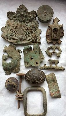 Metal Detecting Finds Medieval Victorian Vintage Cartridge Case Buckle Button