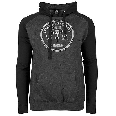 Speed and Strength Mens Soul Shaker Pullover Hoody Black/Gray 2XL