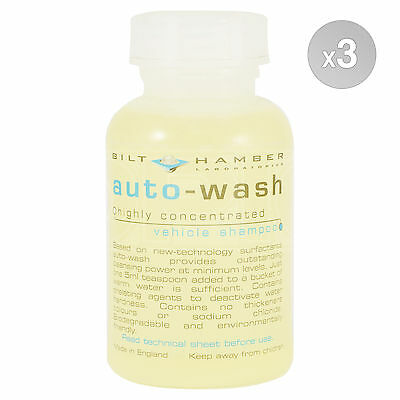 Bilt Hamber Auto-Wash Highly Concentrated Vehicle Shampoo 3 x 300ml bottle 900ml