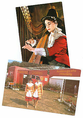 """Wales Traditional Dress X 2 P/Cards-A Real """"GEM"""" Great View-Do You Know Them ?"""