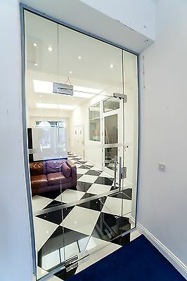 Office Glass Partition fully installed