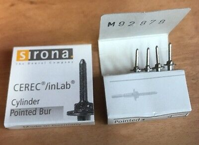 Cerec / InLab Cylinder Pointed burs 1.6 New Four Total