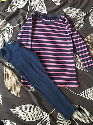 NEXT Girls Age 9 Years Striped Tunic And Leggings Set Outfit