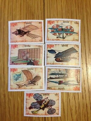 Aviation Stamps - Kampuchia - Experimental Aircraft Designs