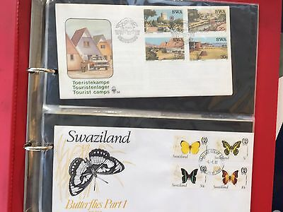 FDC covers from Swaziland, Trankei, SWA south Africa etc small tidy lot