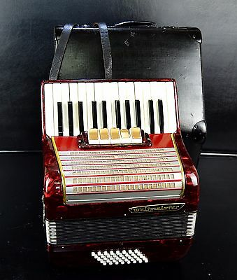 Vintage German Top Piano Accordion Weltmeister 40 Bass,5 Sw.~From Prof. Workshop