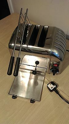 Excellent Refurbished 3 Wide Slot Dualit Toaster. New Timer + Switch See Descrip