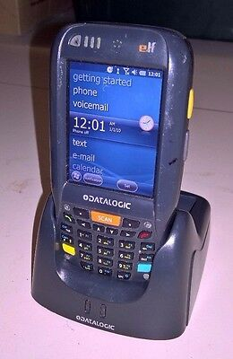 Datalogic Elf Barcode Scanner PDA With Dock Cradle Charger 944301000