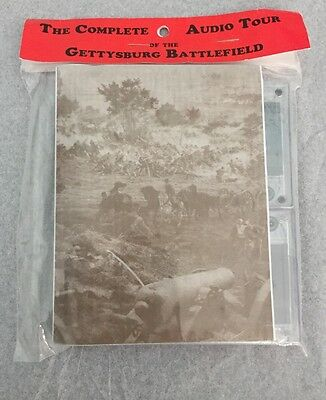 Gettysburg Battlefield Complete Audio Tour Map & Cassettes Package Sealed