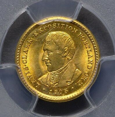 1905 Cg$1 Lewis And Clark Commemorative Gold Dollar  Very Nice   Ms63 Pcgs