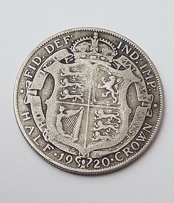 1920 - Silver Coin - Half Crown - Great Britain - King George V - English UK