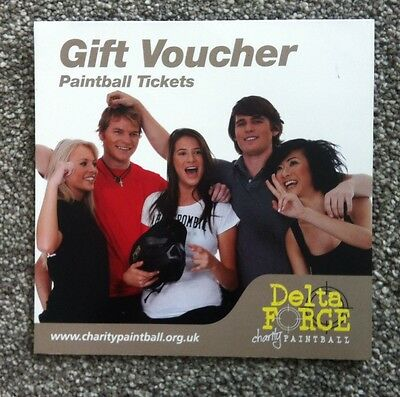 Paintballing Tickets £100 Gift Voucher Delta Force Upto 10 People Select Venue