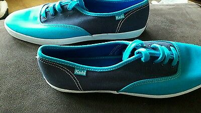 Keds Plimsolls Brand New In 2 Shades Of Blue In 6.5 Unisex Mens Ladies Trainers