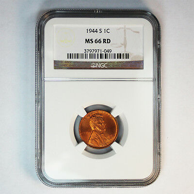 1944 S NGC MS 66 RED  Lincoln Wheat Cent (152)