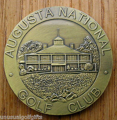 1934 First Ever  Masters  Large Bronze Golf Coin  Ball Marker  - Augusta