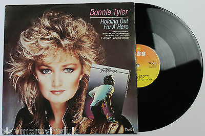 "BONNIE TYLER Holding Out For A Hero (ext) 12"" UK 1984 CBS TA4251  jim steinman"