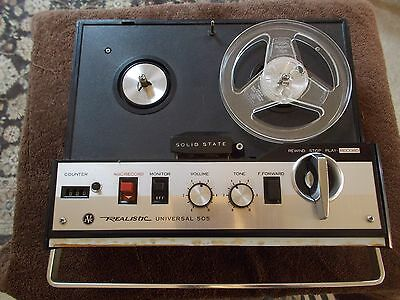 Realistic (by JVC)  #505 portable transistor reel to reel tape recorder