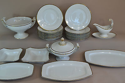 Speiseservice ART DECO Hutschenreuther 10 Person service germany porcelain
