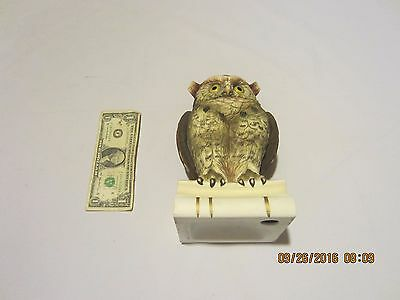 Andrea by Sadek Owl Figurine Statue Sitting on Two Books