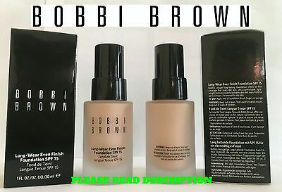 Bobbi Brown Long Wear Even Finish Foundation Various Shades Spf15 30Ml