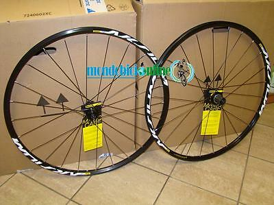 Ruote bici corsa strada MAVIC Aksium Disc Compatibile Shimano-Center Lock COPPIA