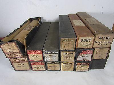 15 Assorted Makers Player Piano Word Rolls