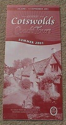 2001 Guided Cotswold Coach Tours Summer Leaflet (26 June – 13 September)