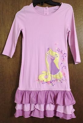 Long Sleeve Pink Disney Girl's Dress (size 7/8)
