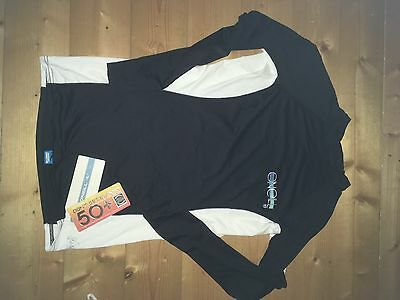 o'neill ladies rash vest NEW WITH TAGS L black and white woman large surf top