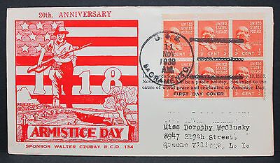 USS Sacramento Armistice Day Cachet Patriotic Cover 1939 FDC MeF Brief (L-2845