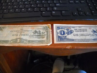 The Japanese Government occupation money one pound & one shilling