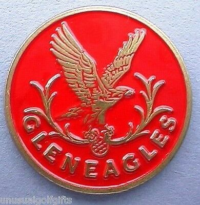 "Ball Marker 1"" Golf Hand Painted Coin  Famous Gleneagles  - Scotland"