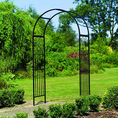 Classic Garden Arch Steal Strong Metal Patio Reseption Westminster Outdoor Shade