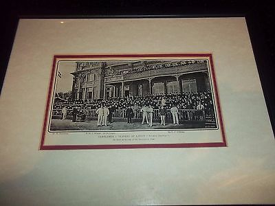 Gentlemen And Players At Lords Cricket Ground Stumps Drawn Framed Picture