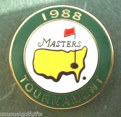 Original Masters 1988  Enamel Stem Golf Ball Marker Extremely Rare
