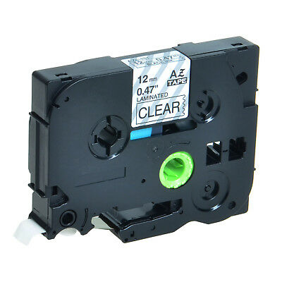 "1/2"" TZ-131 TZe131 Black on Clear Tape for Brother P-Touch PT-D210 Label Maker"
