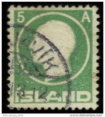 1912 stamp 5a Green King Frederick VIII SG 102 Used