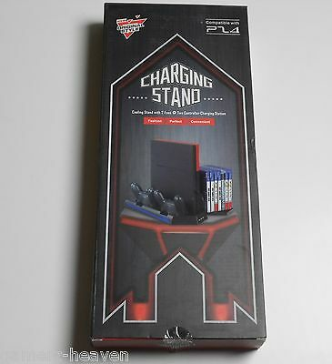 Vertical Stand Cooling Fan Controller Charging Station für Playstation 4 / PS4