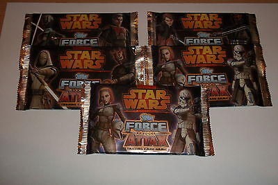 Star Wars Force Attax Series 4 Trading Cards 5 Packs SEALED-