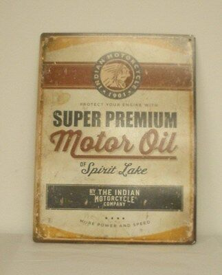 "Indian Motorcycle ""Motorcycle Oil"" Metal Sign (2863974) NEW"