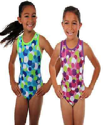 "New Gymnastic Snowflake Awesome dots Purple Leotard Age 7-8 (28"")"