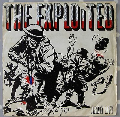 "THE EXPLOITED 7"" vinyl ARMY LIFE Punk 1st issue"