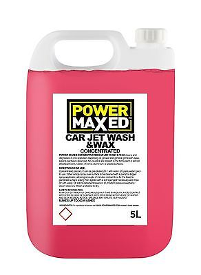 Power Maxed Jet Wash and Wax Liquid Cleaner Concentrate 5 Litre