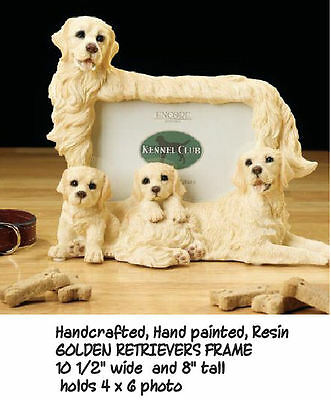 New Golden Retriever Dog and Puppy Picture Frame