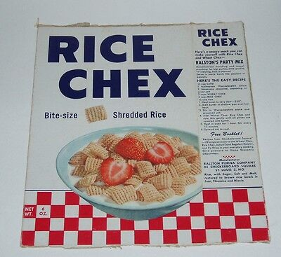 1960's Ralston Rice Chex Cereal box w/ Nicaragua Bold Journey Back