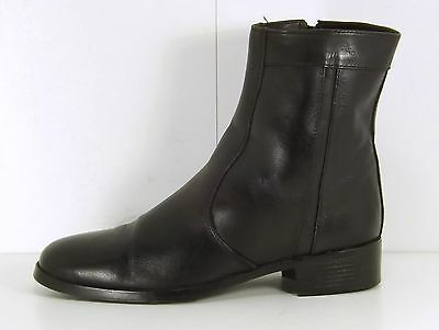 SCIMITAR Black REAL LEATHER Mens Chelsea Ankle Boots size 8 EUR 42