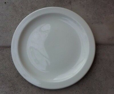 """set of 4 Midwinter all white STONEHENGE 8-3/4"""" salad luncheon plates No crazing!"""