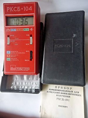Dosimeter Belvar RKSB-104 RKCB Geiger Counter Beta & Gamma 2 * SBM-20 New in Box