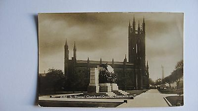 Old Postcard A182 St. Thomas' Church and Grounds, Newcastle-On-Tyne real photo