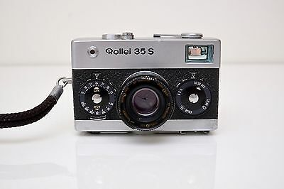 Vintage 35mm Rollei 35 S Camera w/ Sonnar 2.8/40mm Lens + Case